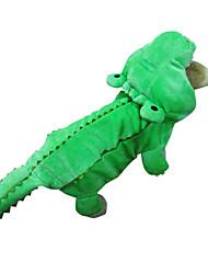 baratos -Cachorro Fantasias Roupa Camisola com Capuz Roupas para Cães Animal Verde Algodão Ocasiões Especiais Para animais de estimação Homens