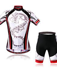 お買い得  -男女兼用 - 高通気性 / 速乾性 / wicking / 反射性ストリップ / バクテリア対応 - キャンピング&ハイキング / フィットネス / レジャースポーツ / サイクリング - スーツ ( ブラック ) - 半袖