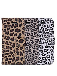 cheap -Leopard Print New Textile + TPU Full Body Cases Phone Cover with Stand and Card Slot for iPhone 6S