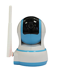 IP Camera WiFi HD 720p 1.0MP due vie video di allarme domestico senza fili di sicurezza record di carta di baby monitor audio p2p ir tf