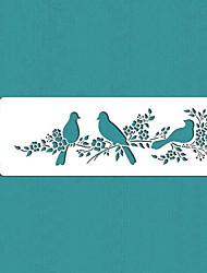 valentine gave elsker fugle kage side stencil, st-295
