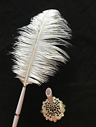 cheap -Ostrich Feather Wedding Pen Sign In Book Wedding Ceremony Beautiful