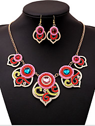 MPL  Europe and the United States New Retro Style Beads Necklace Earrings Set