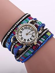Xu™ Dámské Náramkové hodinky Módní hodinky Křemenný Materiál Kapela Černá Modrá Červená Hnědá Fialová