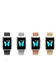 billige -Urrem for Apple Watch Series 3 / 2 / 1 Apple Håndledsrem Milanesisk rem Rustfrit stål