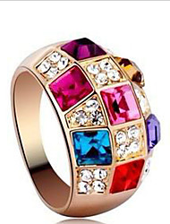 cheap -Midi Rings Crystal Cubic Zirconia Rhinestone Alloy Fashion Classic Luxury Jewelry Rainbow Jewelry Party 1set