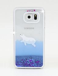 economico -Custodia Per Samsung Galaxy Samsung Galaxy Custodia Liquido a cascata Per retro Glitterato PC per S6 / S5 / S4