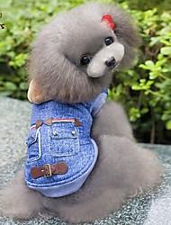 Hunde Kapuzenshirts / Jeansjacken Blau Hundekleidung Winter / Frühling/Herbst Jeans Cowboy / Modisch
