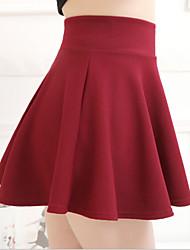 Damen Röcke - Niedlich Mini Polyester Mikro-elastisch