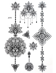 cheap -BlackLace Henna Indian Body Temporary Sexy Tattoos Sticker For Women,Teens,Girls(5 Patterns in 1 Sheet) J019