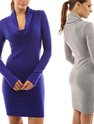 お買い得  -女性用 シック・モダン ドレス - モダンスタイル, 純色