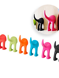 cheap -Soft Rubber Dog Cat Pet Leash Hook Bastis Clothes Hanger