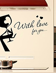 Wall Stickers Wall Decals Style with Love For You English Words & Quotes PVC Wall Stickers