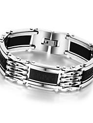 billige -Herre Kæde & Lænkearmbånd Armbånd - Rustfrit Stål Unikt design, Mode Armbånd Sølv Til Gave