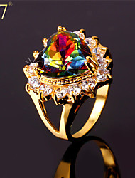 cheap -Women's AAA Cubic Zirconia Zircon Cubic Zirconia Statement Ring - Vintage Cute Party Work Casual Love Colorful Fashion For Party
