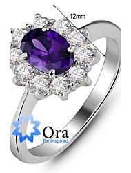 preiswerte -Band-Ring (Sterling Silber / Zirkonia Niedlich / Büro
