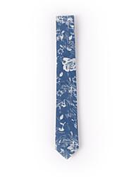 Men's Party/Evening Blue Printed Denim Skinny Necktie 6cm(2.3in)