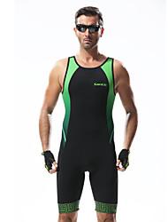 SANTIC Trodjelno odijelo Muškarci Bicikl triatlon Odjeća za vožnju biciklom Antistaticna Prozračnost Pad 3D Pojačana izdržljivost Kolaž