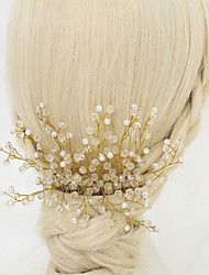 cheap -Crystal Imitation Pearl Alloy Hair Combs 1 Wedding Special Occasion Headpiece