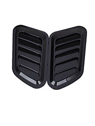 Car Engine Hood Bumper Air Scoop Vent Side Fender Cover Decor  2 Pcs