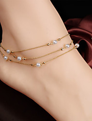 cheap -Cute Pearl - Women's Screen Color Vintage / Party / Work Anklet For Daily