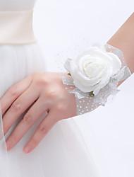 abordables -Fleurs de mariage Bouquets Petit bouquet de fleurs au poignet Déco de Mariage Unique Autres Fleur Artificielle Mariage Occasion spéciale