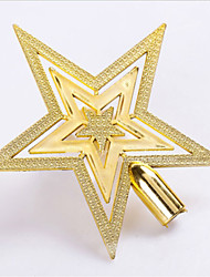 Hot New Christmas Gold Tree Top Star Xmas Party Tree Topper Décor Ornament