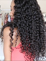 cheap -Virgin Human Hair Full Lace Lace Front Wig Brazilian Hair Curly 130% 150% 180% Density With Baby Hair Glueless African American Wig