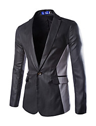 cheap -Men's Basic Blazer-Solid Colored