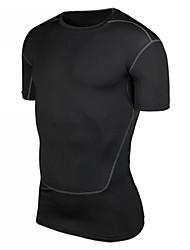 Homens Camiseta de Corrida Manga Curta Secagem Rápida Redutor de Suor Materiais Leves Compressão Camiseta Blusas para Exercício e