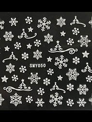 cheap -3d christmas snowflake christmas trees nail art stickers