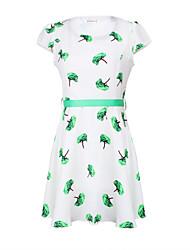 cheap -Women's Chic & Modern Sheath Dress - Print Fashion, Flower Print