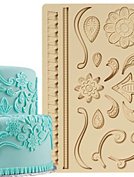 cheap -Cake Decoration Tools Lace Designs Fondant and Gum Paste Mold Cake Decorating Border Silicone Mold