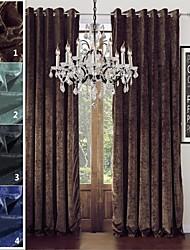 abordables -twopages collection sophia chenille solide rayonne mélange rideau de poids lourd drapé un panneau