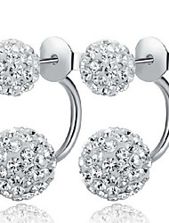 Women's Stud Earrings Basic Classic Costume Jewelry Sterling Silver Rhinestone Imitation Diamond Alloy Ball Jewelry For Daily Casual