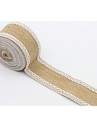 cheap -Solid Color Jute Wedding Ribbons - 4.5M Piece/Set Weaving Ribbon Gift Bow Decorate favor holder Decorate gift box Decorate wedding scene