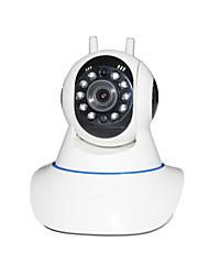 IP Pan Tilt mégapixels caméra wifi ptz 720p HD TF carte SDIP came avec détecteur de fil système d'alarme pour la sécurité domestique