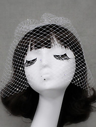 cheap -One-tier Cut Edge Wedding Veil Blusher Veils 53 Rhinestone Tulle