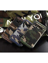 cheap -Case For Samsung Galaxy Samsung Galaxy Case Shockproof Back Cover Camouflage Color PC for J1 / Grand Prime / E7