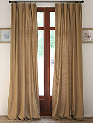 cheap -Curtains Drapes Living Room Solid Colored Linen / Cotton Blend Print