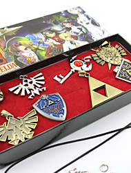 Gioielli Ispirato da The Legend of Zelda Cosplay Anime/Videogiochi Accessori Cosplay Collane / Spille Argento Lega Uomo / Donna