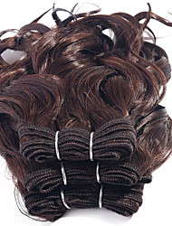 cheap -Brazilian Hair Curly / Curly Weave Virgin Human Hair Natural Color Hair Weaves 3 Bundles 8 inch Human Hair Weaves Hot Sale Natural Black Human Hair Extensions