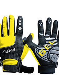 cheap -NUCKILY Sports Gloves Bike Gloves Waterproof Windproof Slide-Proof Thermal Yellow Cycling Gloves