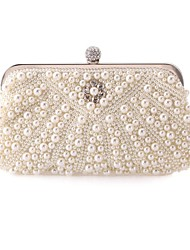 Women Bags Polyester Evening Bag Imitation Pearl Crystal/ Rhinestone for Wedding Event/Party Formal Office & Career All Seasons Screen