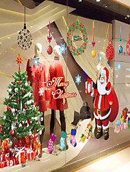 cheap -Christmas Party Home Decorations DIY Removable Wall Art Sticker Window Xmas Deco
