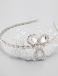 Women's Rhinestone Crystal Alloy Headpiece-Wedding Special Occasion Headbands 1 Piece