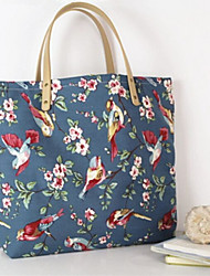 Women Bags All Seasons Canvas Tote with for Casual Outdoor Blue