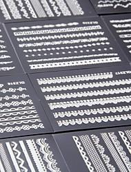 preiswerte -5 pcs 3D Nails Nagelaufkleber Nail Schmuck Spitze-Aufkleber Nagel Kunst Maniküre Pediküre lieblich Punk / Modisch Alltag / PVC / Spitzen-Aufkleber / Nagelschmuck / 3D Nagel Sticker