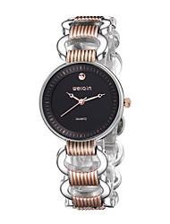 WeiQin Dámské Módní hodinky Křemenný Slitina Kapela Bílá Černá Růžové zlato