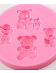 cheap -Dog Bear Pattern Christmas Diy Bear Cake Mould Bakeware Tools